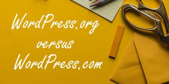 wordpress.org versus wordpress.com