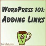 Adding Links in WordPress