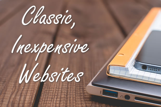 Classic, inexpensive websites